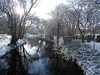 River Dodder Rathgar snow.JPG