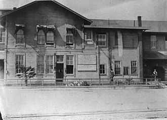 River Station (Los Angeles) - The first River Station (1876−1887).
