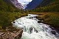 River of Briksdal glacier.jpg