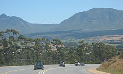 Approaching the town of Riversdale on the N2 highway