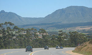 Riversdale, Western Cape - Approaching the town of Riversdale on the N2 highway