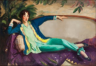 Whitney Museum of American Art - Gertrude Vanderbilt Whitney by Robert Henri (1916)