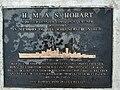 Rockingham Naval Memorial Park, Commemorative plaque for HMAS Hobart (1938).jpg