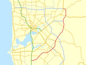 Roe Highway - Image: Roe Highway map