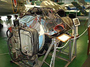 Tangmere Military Aviation Museum - Rolls-Royce Derwent on display