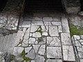 Roman Baths, stairs in Flórián Square underpass, 2016 Budapest.jpg
