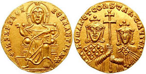 Marianos Argyros - Gold solidus of Romanos I with Constantine VII