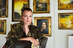 Rosana Elisabeth de Montfort v ateliéru, foto Tomáš Raška http---www.tomasraska.com-.jpg