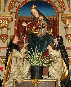 Rosary Madonna by the Tyrolean sculptor :de:Fr...