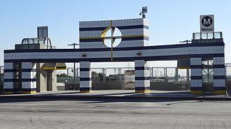 Gardena, California - Rosecrans Metro Silver Line station at Gardena
