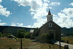 Church in Rowe, New Mexico