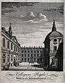 Royal College of Physicians; the courtyard, viewed from the Wellcome V0013118.jpg