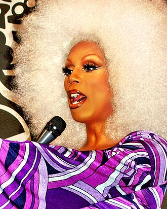 RuPaul is a famous drag queen known for the series RuPaul's Drag Race. RuPaul by David Shankbone cropped.jpg