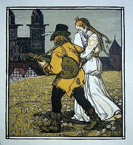 Rudolf Schiestl Wanderer und Prinzessin