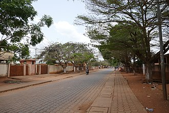 Abomey - A street of Abomey in 2017