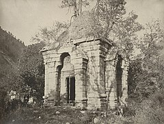 Ruins of a Hindu temple in Wangut, Kashmir, 1868 photo.jpg