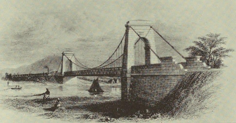 S&DR Tees Suspension Bridge, 1830