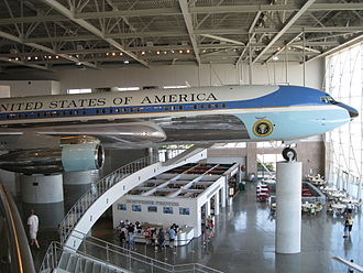 Boeing C-137 Stratoliner - SAM 27000 on display at the Reagan Library