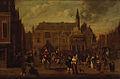 SA 7449-De Grote Markt van Haarlem tijdens een feestelijke gebeurtenis-De afkondiging van de Vrede van Munster op de Grote Markt te Haarlem in 1648.jpg