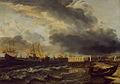 SA 7486-Een vloot bij Den Helder-Zeegezicht-De vloot van Wassenaar, Opdam verlaat Tessel in de lente van 1665, tijdens de tweede Engelse oorlog.jpg