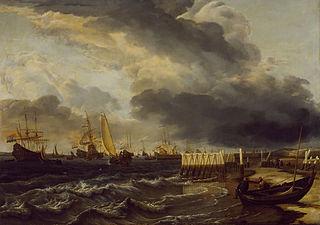 Een vloot bij Den Helder