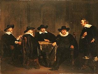 Amsterdam mayors awaiting Maria de Medici