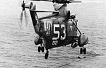SH-3A of HS-6 takes off from USS Kearsarge (CVS-33) in 1966.jpg