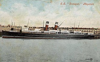 SS Donegal - Image: SS Donegal postcard