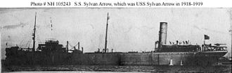 Battle of the Caribbean - SS Sylvan Arrow in 1917.
