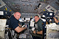 STS-134 Mark Kelly and Greg H. Johnson on the forward flight deck.jpg