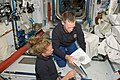 STS-135 Sandy Magnus and Chris Ferguson in the Harmony node.jpg