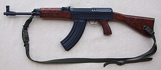 Vz. 58 - The vz. 58 P (with  stock, pistol grip, and handguards; and sling).