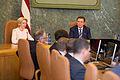 Saeimas priekšsēdētāja piedalās svinīgajā Ministru kabineta sēdē (24663565560).jpg