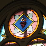 Saint Anthony Catholic Church (Temperance, MI) - stained glass, Sacred Heart.jpg