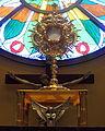 Saint John Neumann Church (Sunbury, Ohio) - monstrance holding Christ in the Eucharist during adoration.jpg