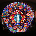 Saint Nicholas Catholic Church (Zanesville, Ohio) - stained glass, rose window, Immaculate Conception.jpg