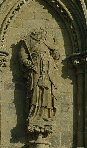 Statuary of the West Front of Salisbury Cathedral -  King Solomon