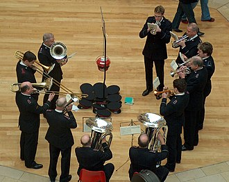 Salvation Army brass band - The Salvation Army Brass Band in Bullring.