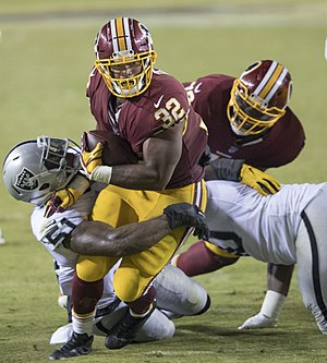 Samaje Perine - Perine playing against the Oakland Raiders in his rookie year.
