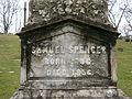 Samuel Spencer Obelisk Inscription, Allegheny Cemetery, 2015-04-09.jpg