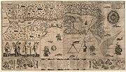 Samuel de Champlain Carte geographique de la Nouvelle France