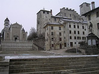 Feltre - The Church of St. Roch and the Castle of Alboin.