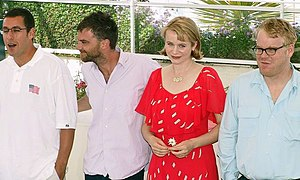 Punch-Drunk Love - Adam Sandler, Paul Thomas Anderson, Emily Watson and Philip Seymour Hoffman at Cannes in 2002