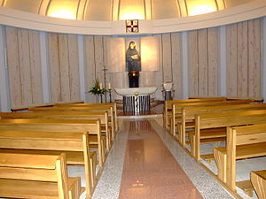 Divine Mercy - The resting place of Faustina, now a permanent chapel within the Basilica of Divine Mercy in Kraków, Poland