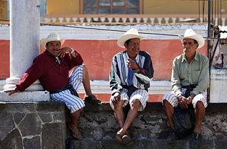 Tz'utujil people - Tz'utujil men in Santiago Atitlán