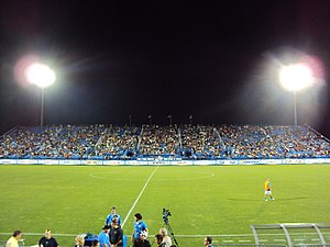 Saputo Stadium - Image: Saputo Stadium in night