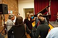 Sarah Partridge and Trio - talking with others - Monmouth County Library, Manalapan, NJ.jpg