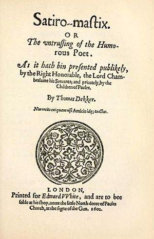 Satiromastix - Title page of Satiromastix (1602)