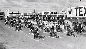 Landskrona - The line up for the 1933 Saxtorp TT-motorcycle race