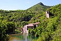 Sceneric La Dourbie (the Dourbie river in Aveyron) with an old archbridge - panoramio.jpg